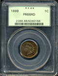 Proof Indian Cents: , 1899 PR 66 Red PCGS. ...