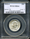 Washington Quarters: , 1932-S MS64 PCGS. The current Coin Dealer Newsletter (...