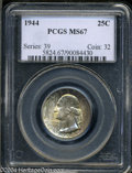 Washington Quarters: , 1944 MS67 PCGS. ...