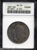 Early Half Dollars: , 1807 Draped Bust AU50 ANACS. ...