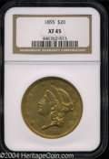 Liberty Double Eagles: , 1855 XF45 NGC. ...