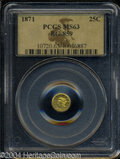California Fractional Gold: , 1871 Liberty Round 25 Cents, BG-859, Low R.6, MS63 PCGS. ...