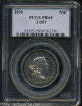 Patterns: , 1870 Standard Silver Half Dollar, Judd-957, Pollock-1108, ...