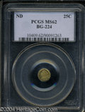 California Fractional Gold: , Undated Liberty Round 25 Cents, BG-224, R.3, MS62 PCGS. ...