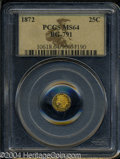 California Fractional Gold: , 1872 Indian Octagonal 25 Cents, BG-791, R.3, MS64 PCGS. ...