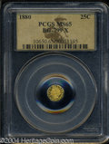 California Fractional Gold: , 1880 Indian Octagonal 25 Cents, BG-799X, R.3, MS65 PCGS. ...