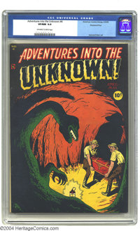 Adventures Into the Unknown #4 Diamond Run pedigree (ACG, 1949) CGC VF/NM 9.0 Off-white to white pages. Highest grade ye...