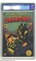 Golden Age (1938-1955):Horror, Adventures Into the Unknown #6 Diamond Run pedigree (ACG, 1949) CGCNM- 9.2 White pages. Highest grade yet assigned by CGC f...