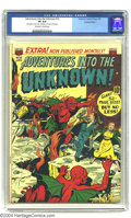 """Golden Age (1938-1955):Horror, Adventures Into the Unknown #15 Diamond Run pedigree (ACG, 1951)CGC VF 8.0 Off-white to white pages. CGC notes, """"Date stamp..."""