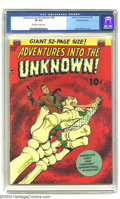 Golden Age (1938-1955):Horror, Adventures Into the Unknown #28 White Mountain pedigree (ACG, 1952)CGC VF 8.0 Off-white to white pages. Ogden Whitney cover...