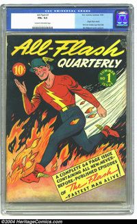 All-Flash #1 (DC, 1941) CGC FN+ 6.5 Cream to off-white pages. One of the most important and popular characters in Golden...