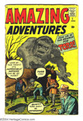 Silver Age (1956-1969):Horror, Amazing Adventures #1 (Marvel, 1961) Condition: GD+. Origin Dr.Droom (first Marvel-Age superhero) by Jack Kirby. Back-up st...