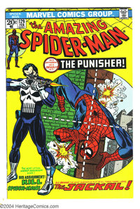 Amazing Spider-Man #129 (Marvel, 1974) Condition: VF. First appearance of the Punisher and the Jackal. John Romita Sr. a...