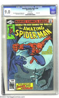 Amazing Spider-Man #200 (Marvel, 1980) CGC VF/NM 9.0 White pages. Origin retold. John Romita Sr. cover art. Keith Pollar...