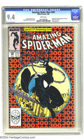 Modern Age (1980-Present):Superhero, Amazing Spider-Man #300 (Marvel, 1988) CGC NM 9.4 White pages.Origin and first full appearance of Venom. Last black costume...
