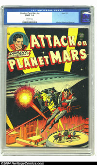 Attack on Planet Mars #nn (Avon, 1951) CGC FN/VF 7.0 Off-white pages. Carmine Infantino, Joe Kubert, and Wally Wood art...