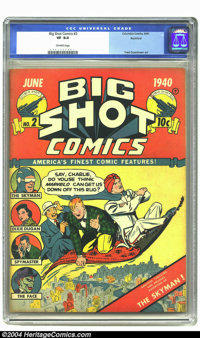 Big Shot Comics #2 Rockford pedigree (Columbia, 1940 CGC VF 8.0 Off-white pages. This issue features Fred Guardineer art...