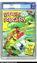Golden Age (1938-1955):Adventure, Buck Rogers #4 (Eastern Color, 1942) CGC VG/FN 5.0 Cream to off-white pages. Spaceship cover. Overstreet 2003 VG 4.0 value =...