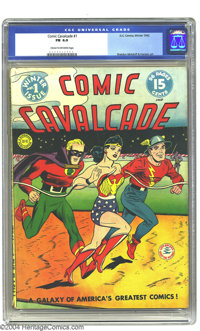 Comic Cavalcade #1 (DC, 1942) CGC FN 6.0 Cream to off-white pages. One of DC's multi-superhero venues takes off with thr...
