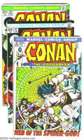 Bronze Age (1970-1979):Miscellaneous, Conan The Barbarian Group (Marvel, 1972-77) Condition: Average FN+.This lot consists of issues #13, 15-17, 25, 27, 29-33, 3... (Total:32 Comic Books Item)