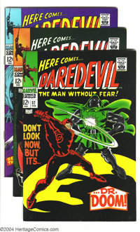 Daredevil Group (Marvel, 1967-68) Condition: Average VF/NM. Five great Gene Colan drawn issues. This lot contains Darede...