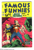 Golden Age (1938-1955):Science Fiction, Famous Funnies #211 (Eastern Color, 1954) Condition: VG+. BuckRogers strip reprints; cover by Frank Frazetta. Overstree...
