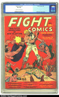 """Golden Age (1938-1955):Miscellaneous, Fight Comics #1 (Fiction House, 1940) CGC VG 4.0 Cream to off-white pages. It may be """"only"""" a mid-grade copy, but just a few..."""