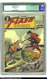 """Flash Comics #102 (DC, 1948) CGC Qualified FN 6.0 Off-white pages. Overstreet """"scarce"""" issue. Carmine Infantin..."""