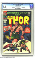 Silver Age (1956-1969):Superhero, Journey into Mystery #124 (Marvel, 1966) CGC VF+ 8.5 Off-white to white pages. Jack Kirby cover and art. Hercules appearance...