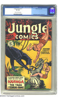 Golden Age (1938-1955):Adventure, Jungle Comics #111 (Fiction House, 1949) CGC VF 8.0 Cream to off-white pages. Matt Baker and John Celardo art. Overstreet 20...