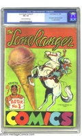 Golden Age (1938-1955):Western, Lone Ranger Comics #1 (Lone Ranger Inc., 1939) CGC VG+ 4.5 Cream tooff-white pages. This scarce promotional issue was the f...