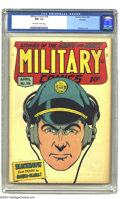 Golden Age (1938-1955):War, Military Comics #38 Rockford pedigree (Quality, 1945) CGC NM- 9.2Off-white to white pages. Al Bryant's covers were highligh...