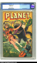 Golden Age (1938-1955):Science Fiction, Planet Comics #42 (Fiction House, 1946) CGC VF/NM 9.0 Cream tooff-white pages. Last Gale Allen. Joe Doolin cover, Murphy An...