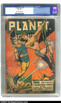 Golden Age (1938-1955):Science Fiction, Planet Comics #46 (Fiction House, 1947) CGC VF- 7.5 Cream tooff-white pages. Anderson, Evans & Lubbers art. Overstreet2002...