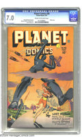 Golden Age (1938-1955):Science Fiction, Planet Comics #48 (Fiction House, 1947) CGC FN/VF 7.0 Cream tooff-white pages. Murphy Anderson and George Evans art. Robot ...