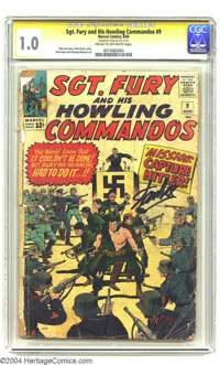 Sgt. Fury and His Howling Commandos #9 Stan Lee File Copy (Marvel, 1964) CGC FR 1.0 Cream to off-white pages. Signature...