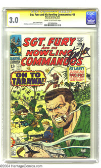 Sgt. Fury and His Howling Commandos #49 Stan Lee File Copy (Marvel, 1967) CGC GD/VG 3.0 Cream to off-white pages. Signat...