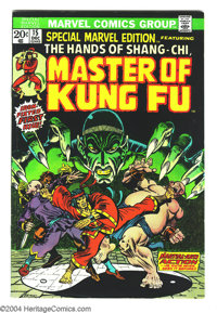 Special Marvel Edition #15 (Marvel, 1973) Condition: FN. First appearance of Shang-Chi, Master of Kung Fu. Jim Starlin a...