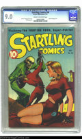 Golden Age (1938-1955):Science Fiction, Startling Comics #46 (Better Publications, 1947) CGC VF/NM 9.0Cream to off-white pages. Classic bondage cover. Art by Graha...