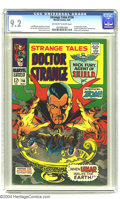 Silver Age (1956-1969):Horror, Strange Tales #156 (Marvel, 1967) CGC NM- 9.2 Off-white to whitepages. Jim Steranko art. Overstreet 2003 NM 9.4 value = $55...