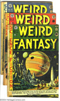 Golden Age (1938-1955):Science Fiction, Weird Fantasy Group (EC, 1951-52). Issues #17 (#5; PR, missing 3centerfolds), 14 (GD, and 15 (GD-). Art by Al Feldstein, Ha...(Total: 3 Comic Books Item)