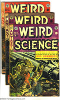 Golden Age (1938-1955):Horror, Weird Science Group (EC, 1953-55) Condition: Average GD/VG. Issues#17, 19, 21, and Weird Science-Fantasy #27. Art by Wa... (Total: 4Comic Books Item)