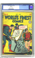 Golden Age (1938-1955):Superhero, World's Finest Comics #23 (DC, 1946) CGC VF 8.0 Cream to off-white pages. Superman, Batman and Robin stories. To date, only ...