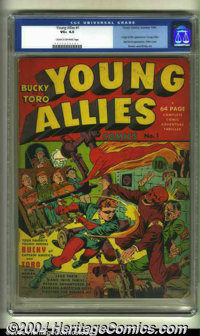 Young Allies Comics #1 (Timely, 1941) CGC VG+ 4.5 Cream to off-white pages. Simon and Kirby art. Origin and first appear...