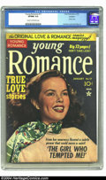 Golden Age (1938-1955):Romance, Young Romance Comics #17 Rockford pedigree (Prize, 1950) CGC VF/NM9.0 Cream to off-white pages. Photo cover. Simon and Kirb...