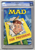 Magazines:Mad, Mad #185 Gaines File Pedigree (EC, 1976) CGC VF/NM 9.0 White pages.Norman Mingo cover art. Frank Jacobs, Lou Silverstone, a...