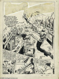 Original Comic Art:Splash Pages, Al Avison (Attributed) - Original Art Splash Page to Shock Gibsonstory from Speed Comics #11 (Harvey, 1941). Shock is out t...