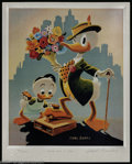 "Memorabilia:Miscellaneous, Carl Barks - Limited Edition Print ""Dude for a Day,"" #55/100 (Another Rainbow Publishing, 1992). Donald gets all spiffed up ..."