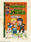 Original Comic Art:Miscellaneous, Ernie Colon - Original Production Art, Cover Color Guide for Richie Rich and Jackie Jokers #47 (Harvey, 1982). This is the c...