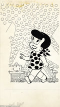 Original Comic Art:Covers, Sid Couchy - Original Cover Art for Little Dot's Uncles and Aunts(Harvey, 1960s). It's a gala premiere, and that means the ...